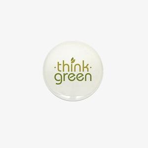 Think Green [text] Mini Button